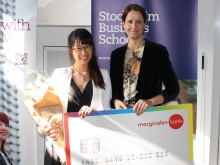 Anqi Wang är årets mottagare av stipendiet Marginalen Bank Master Award in Banking and Finance