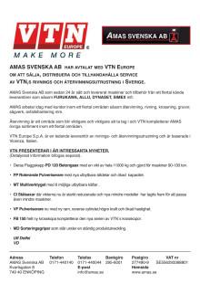 Pressrelease AMAS Svenska AB produkter från VTN Europe
