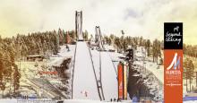 Här i Falun har vi vinter och hoppbackar