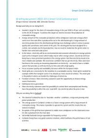 Briefing document Smart Grid Gotland