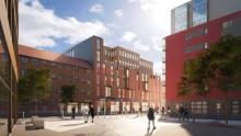Inflyttning i nya kontorslokaler i Gårda, Göteborg