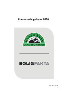 Rapport om kommunale gebyrer 2016