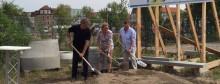 Spatenstich in der Wollkämmereistraße für das nächste HL komm Glasfaserprojekt in Leipzig