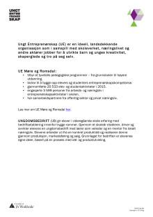 Fakta om Ungt Entreprenørskap Møre og Romsdal