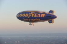 Goodyears blimp till Norden för första gången på tio år