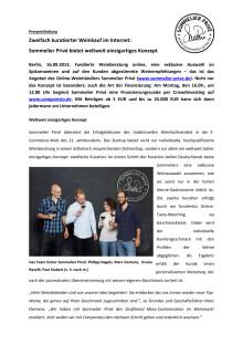 Pressemitteilung Sommelier Privé