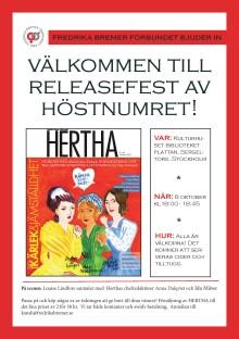 RELEASEFEST FÖR HÖSTNUMRET AV HERTHA!