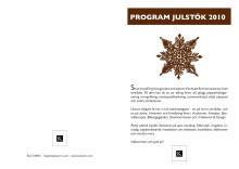 Program för Kulturens julstök 2010