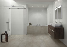 New Tiles for 2020 by Villeroy & Boch - FALCONAR: Concrete look, fine mesh structures and geometric décor - Wall and floor concept offers a perfect symbiosis of function and design