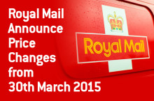 Royal Mail Announce Price Changes from 30th March 2015