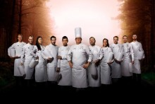 Kocklagen laddar för Culinary World Cup