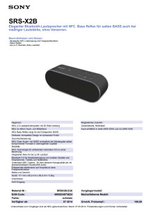 Datenblatt_SRS-X2B von Sony
