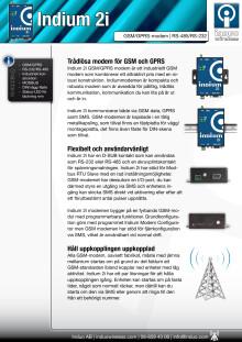 GSM modem Indium 2i -broschyr