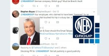 German company Neuman & Esser suffering  international backlash over Managing Director  Emad Tabaza's involvement in Dubai public indecency case. Jamie Harron still facing jail in Dubai.