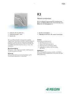 Produktblad för R3