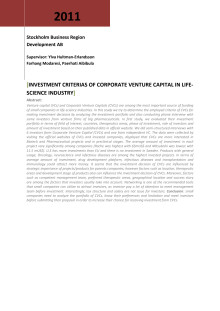Investment criteria of corporate venture capital in life science industry