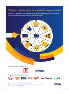 Amplă inițiativă de încurajare a plăților cu cardul Visa care reunește nouă comercianți de top din România