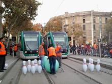 Arrivamedarbetare tävlar i europamästerskapet för spårvagnsförare