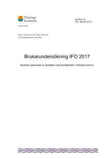 Rapport brukarundersökning Funktionsnedsättning 2017