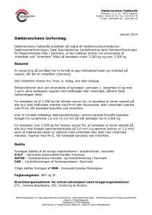 Dækbranchens lovforslag om vinterdæk i Danmark