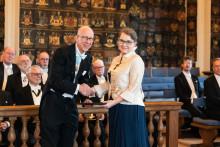 Professor Marianne Gullberg mottog pris vid högtidssammankomst