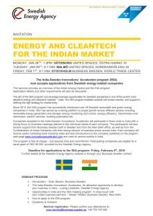 Inbjudan och anmälan till ISIA programmet