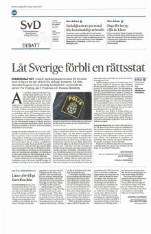 Låt Sverige förbli en rättsstat