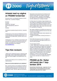 Nyhetsbrev FR2000 - September 2016