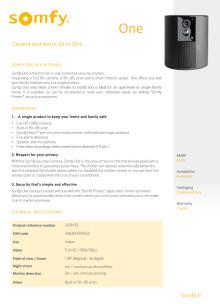 Somfy One Allt-I-Ett larmsystem - produktblad