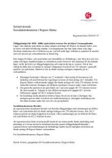 Initiativärende RS 2020-03-19 Tilläggsbudget