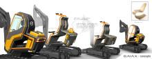 Kompakta konceptgrävaren Volvo GaiaX inspirerad av den svenska designtraditionen