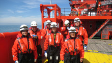 Equinor's CEO visits the Dudgeon Offshore Wind Farm and the 'Esvagt Njord'