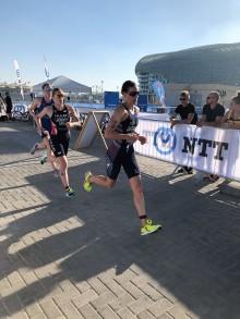 Lotte Miller ble nummer seks i verdensserien i triatlon (WTS) i dag