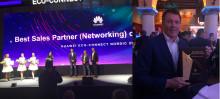 Pris för Best Sales Partner på Huawei Eco-Connect Nordic 2018