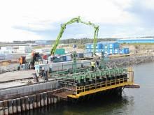 Informationsträff om unik teknisk lösning vid bygget av Gävle Hamns containerterminal