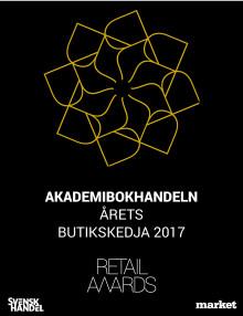 Akademibokhandeln utsedd till Årets Butikskedja