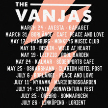 "The Vanjas presents tour dates after super-hyped single release""My Girls""!"