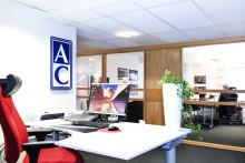 Snygga 3D-effekt frigolitskyltar till Ackordcentralen i Lund