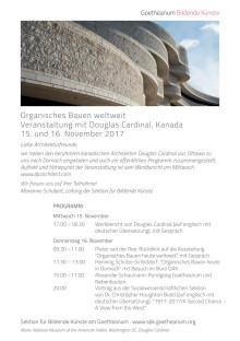 Programm Organisches Bauen weltweit mit Douglas Cardinal am 15. und 16. November 2017
