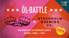 ÖL-BATTLE  PANG PANG vs STOCKHOLM BREWING CO