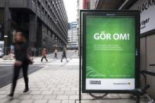 Ilsket anslag i Svenska kyrkans och Stockholms Stadsmissions gemensamma annonskampanj om medmänsklighet
