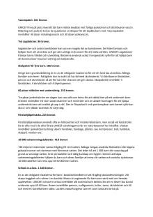 Kort information om produkter från UNICEFs gåvoshop