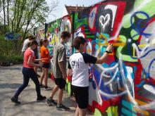 Geschwister-Jugendwochenende mit Graffiti-Workshop