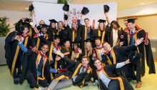Hats off and festive cheer to pioneering new graduates