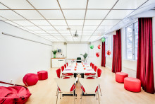 Mötesrum som ger ljusinjektioner och färgkickar  - Ljuset på Happy Tammsvik