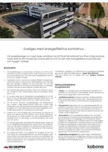 Sveriges mest energieffektiva kontorshus