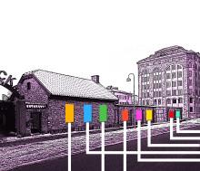 Ungdomars uttryck i stort format på Kulturhuset Barbackas fasad!