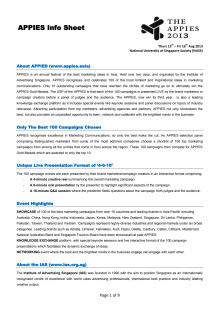 APPIES Information Sheet