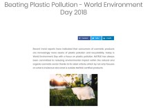 """NEW PRESS ARTICLE """"BEATING PLASTIC POLLUTION – WORLD ENVIRONMENT DAY 2018"""" FROM NATRUE PUBLISHED!"""
