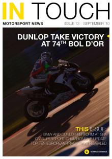 Dunlop Motorsport nyheds brev InTouch